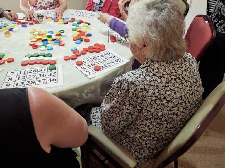 Bingo at Dementia Day Program